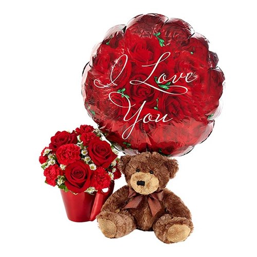 """You Lift My Heart"" flower bouquet for Valentine's Day (BF380-11K)"